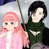 Anime winter couple dress up game