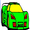 Fast modern race car  coloring