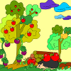 Kid's coloring: Autumn forest