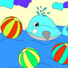 Kid's coloring: Сheerful dolphin