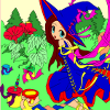 Kid's coloring: The forest fairy