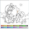 Kittens learn coloring