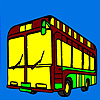 Modern city bus coloring