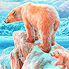 Snow and bear family puzzle