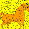 Alone horse coloring