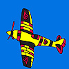 Flying flame airplane coloring