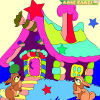 Kid's coloring: Forest House