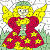 Little fairy girl coloring