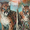 Naughty tigers in the woods slide puzzle