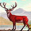 Red mountain deer slide puzzle